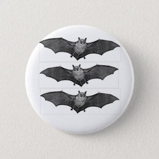 BLACK BAT TRIO IN FLIGHT 6 CM ROUND BADGE