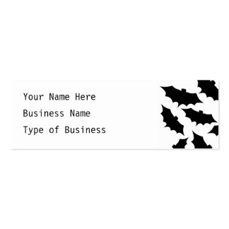 Black Bats Pattern. Business Card Template