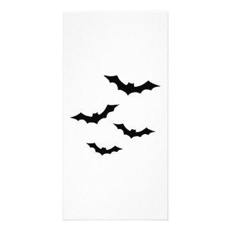 Black bats personalised photo card