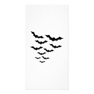 Black bats photo card