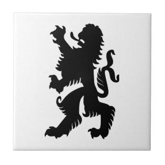 Black Bavarian Lion Tile