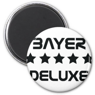 black bayer deluxe icon 6 cm round magnet