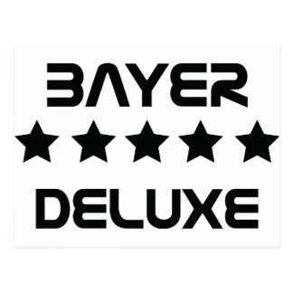 black bayer deluxe icon postcard