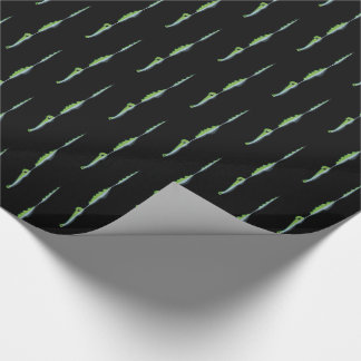 Black Bayou Gators Wrapping Paper