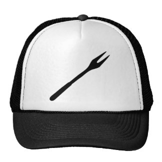 black BBQ fork icon Cap