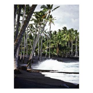 Black Beach - Hawaii 21.5 Cm X 28 Cm Flyer