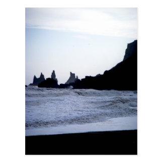 Black Beach Postcard
