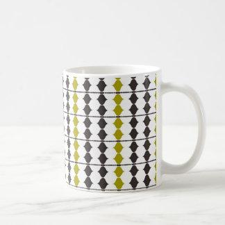 black beads basic white mug