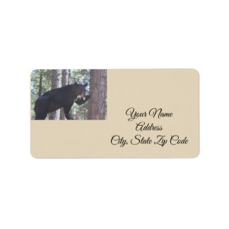 Black Bear Address Labels