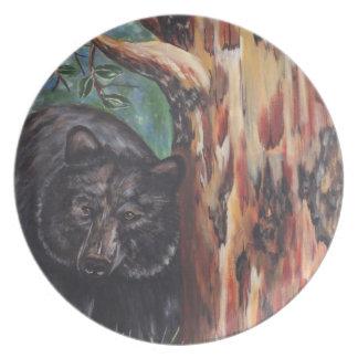 BlacK Bear and Arbutus Tree Plate
