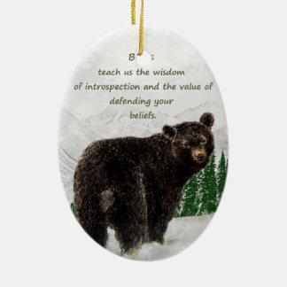 Black Bear Animal totem Inspirational Spirit Guide Christmas Ornament