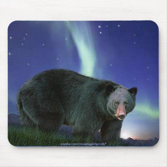Black Bear Art Wildlife-supporter Mousepad