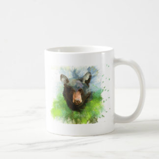 Black Bear Basic White Mug