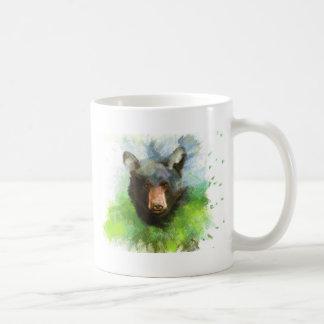 Black Bear Basic White Mug