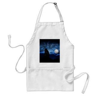 Black bear by moonlight standard apron