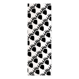 Black Bear Claw Pixel Bookmark Pack Of Skinny Business Cards