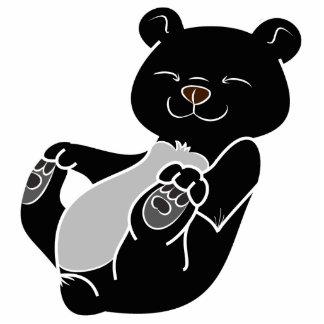 Black Bear Cub Photo Sculpture Magnet