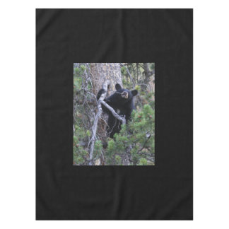 black bear cub tablecloth