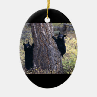 black bear cubs christmas ornament