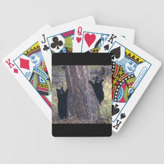 black bear cubs poker deck