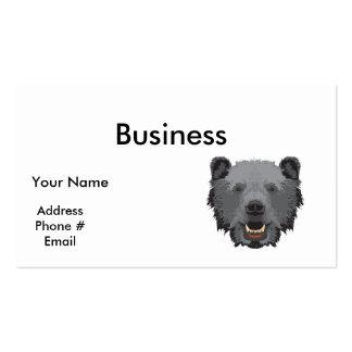 black bear face pack of standard business cards