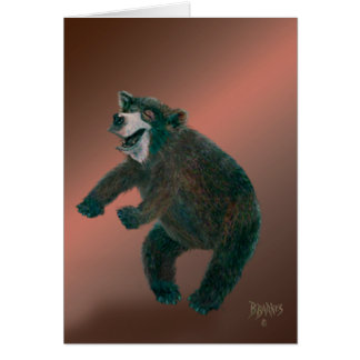 Black Bear Happy Dance Card