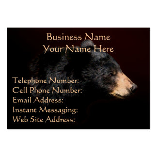 Black Bear Head Study Wildlife Business Cards