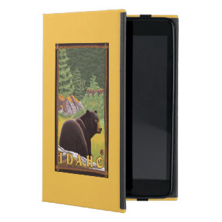Black Bear in Forest - Idaho Cover For iPad Mini