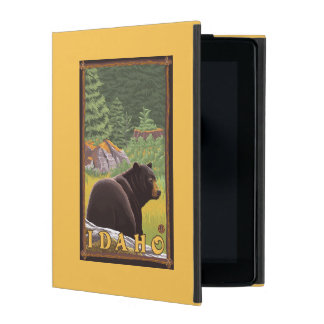 Black Bear in Forest - Idaho iPad Folio Case