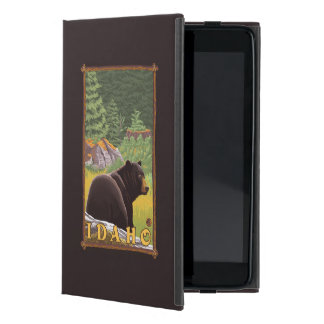 Black Bear in Forest - Idaho iPad Mini Cover