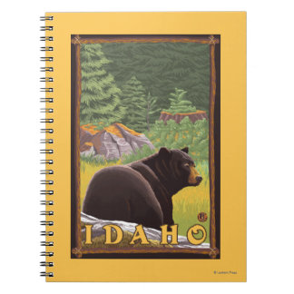 Black Bear in Forest - Idaho Notebook