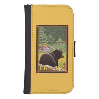 Black Bear in Forest - Idaho Samsung S4 Wallet Case