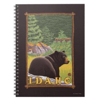 Black Bear in Forest - Idaho Spiral Notebook