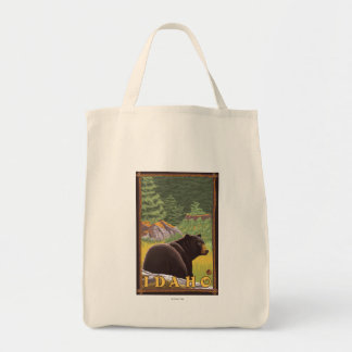 Black Bear in Forest - Idaho Tote Bag