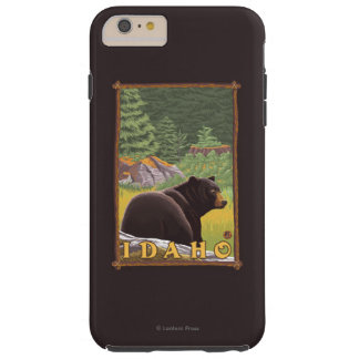 Black Bear in Forest - Idaho Tough iPhone 6 Plus Case