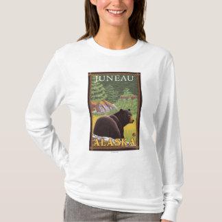 Black Bear in Forest - Juneau, Alaska T-Shirt