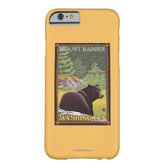 Black Bear in Forest - Mount Rainier, Washington Barely There iPhone 6 Case