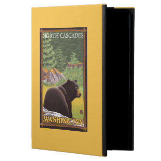 Black Bear in Forest - North Cascades, Washingto Cover For iPad Air