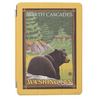 Black Bear in Forest - North Cascades, Washingto iPad Air Cover