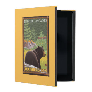 Black Bear in Forest - North Cascades, Washingto iPad Case