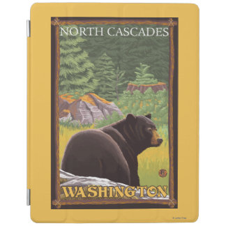 Black Bear in Forest - North Cascades, Washingto iPad Cover