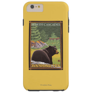Black Bear in Forest - North Cascades, Washingto Tough iPhone 6 Plus Case