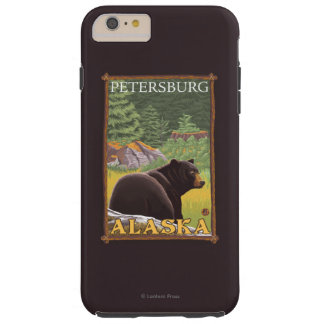 Black Bear in Forest - Petersburg, Alaska Tough iPhone 6 Plus Case
