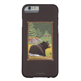 Black Bear in Forest - Washington Barely There iPhone 6 Case