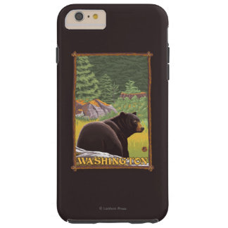 Black Bear in Forest - Washington Tough iPhone 6 Plus Case