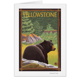 Black Bear in Forest - Yellowstone National Park Card