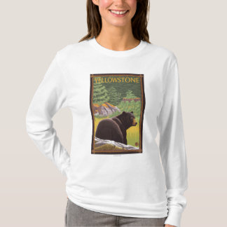Black Bear in Forest - Yellowstone National Park T-Shirt