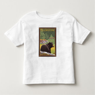 Black Bear in Forest - Yellowstone National Park Toddler T-Shirt