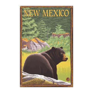 Black Bear in ForestNew Mexico Gallery Wrapped Canvas