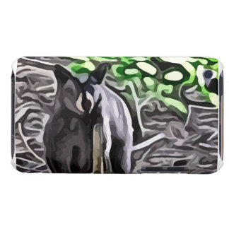 Black Bear in the woods painting iPod Case-Mate Case